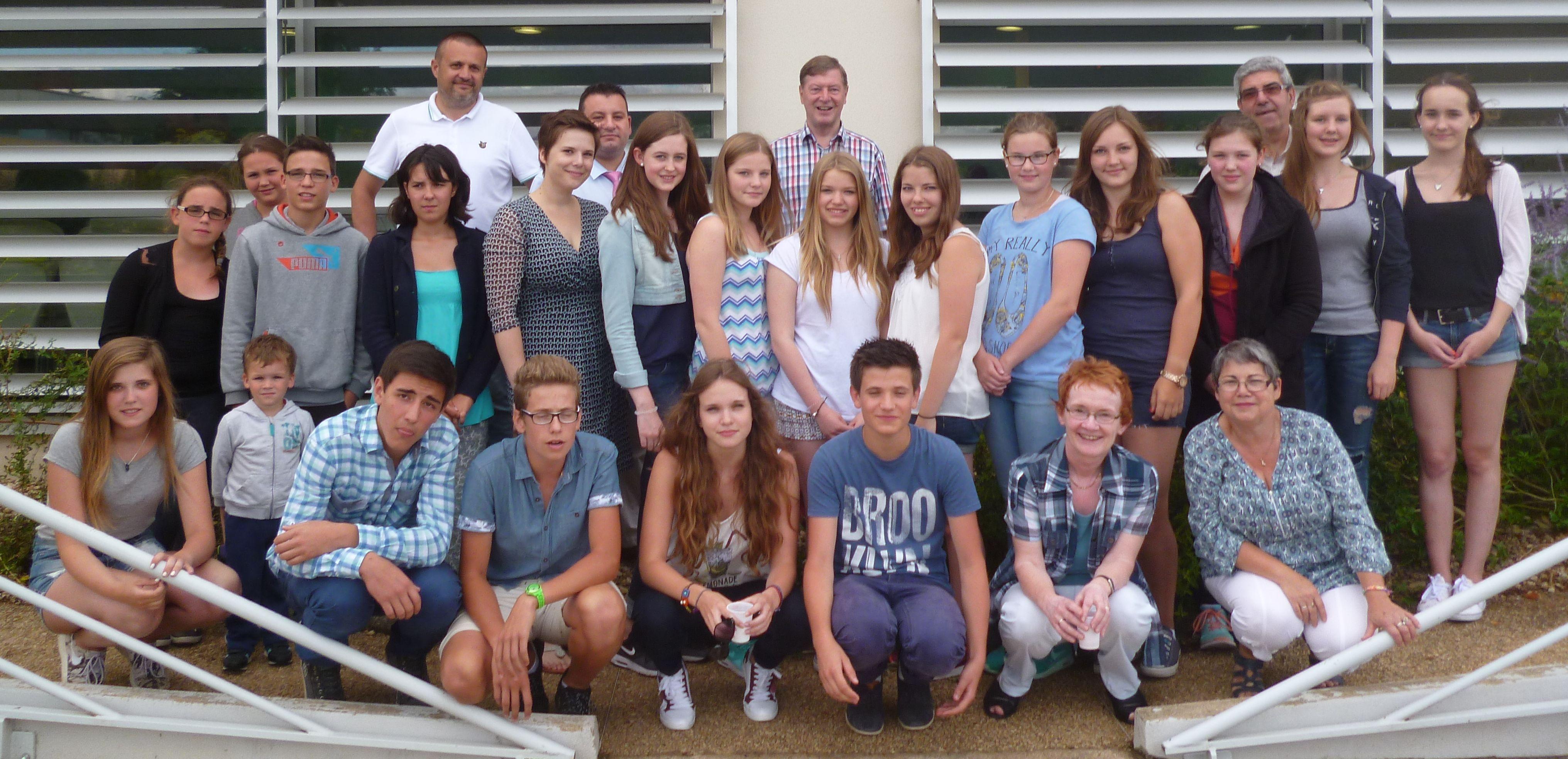 Deutsche und französische Jugendliche trafen sich in Couhé.Foto:Korff